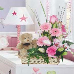 Regala flores para un nacimiento floristerias Zaragoza
