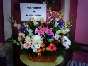 Cestas florales para la virgen floristerias Zaragoza