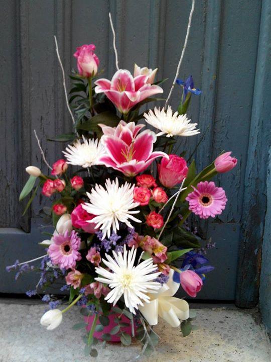 centro de flores jarron