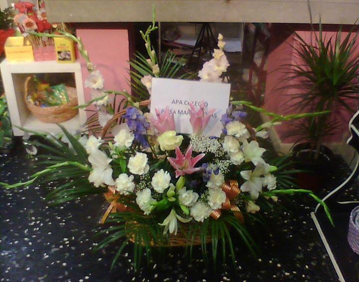 cesta floral virgen